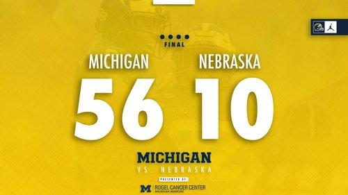 Michigan beats Nebraska, 56-10: Blog recap