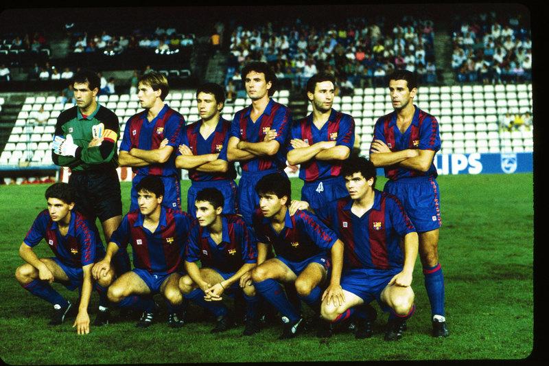Un once del Barça 1989-90 con Valverde, Geli, Onésimo y Eusebio