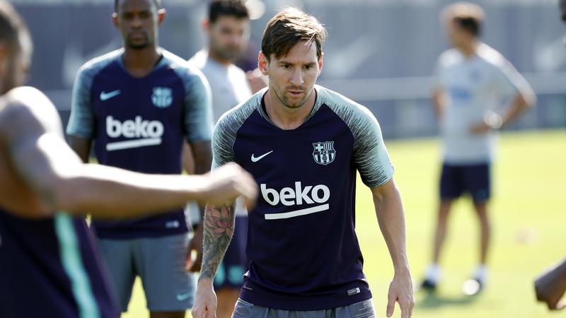 Messi se afeitó el jueves