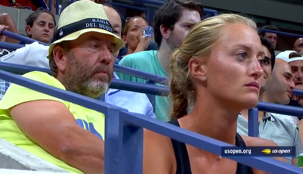 El técnico de Thiem, Gunther Bresnik, y su novia, la tenista francesa Kristina 'Kiki' Mladenovic