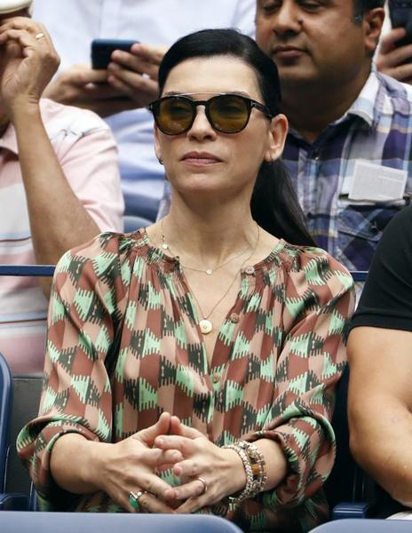 La actriz neoyorquina Julianna Margulies, 'Urgencias' o 'The Good Wife', en la grada viendo la semifinal FOTO: AP