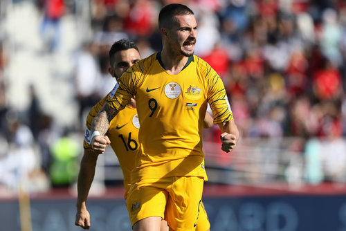 "1fa0362b0 ""It's time for me to kick on"": Maclaren hungry for more after maiden  Socceroos goal as front three dominate in Dubai"