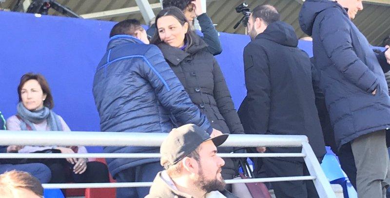 Maria Teixidor, directiva del Barça, ha viajado a Bunyol