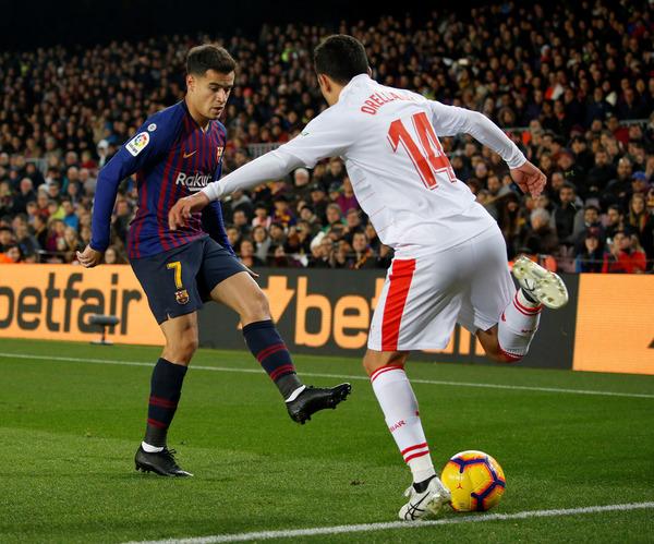 Coutinho ha dado la asistencia del 1-0 en su regreso al once titular en Liga FOTO: PEP MORATA