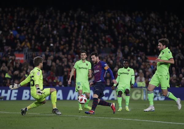 El 3-0 de Messi FOTO: AP