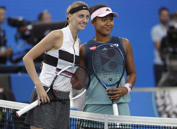 La fotografía de las finalistas, Petra Kvitova y Naomi Osaka FOTO: AP