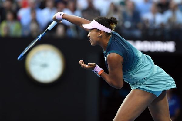 Naomi Osaka, la tenista que más 'aces' ha anotado en este Open. Primeros juegos de la final, va por 53 FOTO: AP
