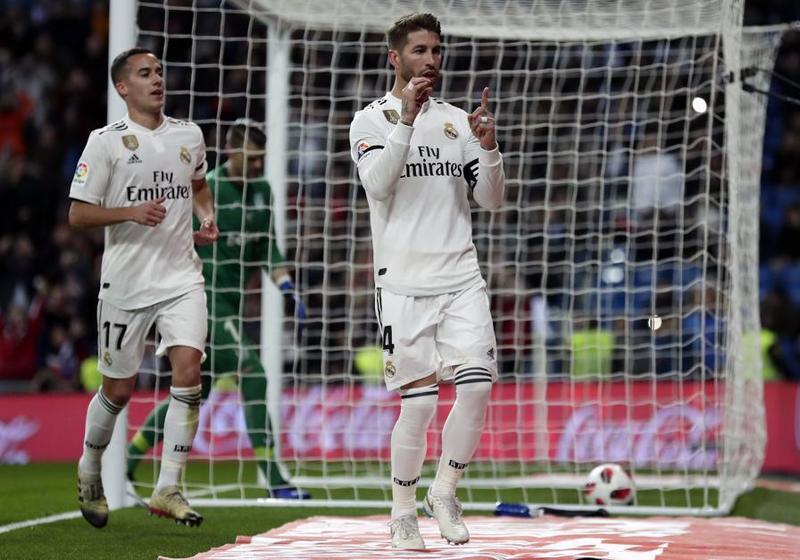 Ramos, el único goleador del partido