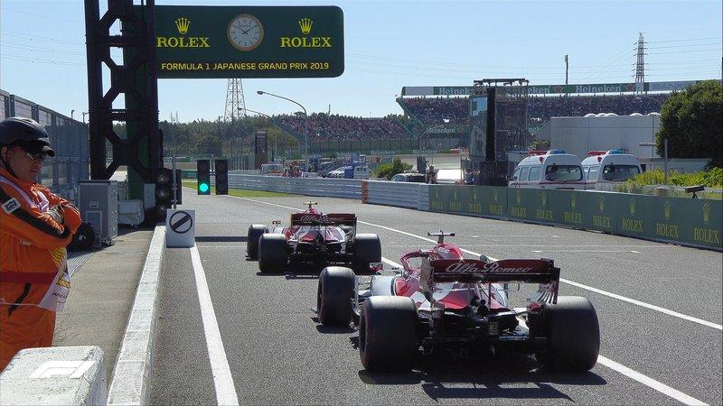 Los Alfa Romeo, los primeros en volver a salir a pista