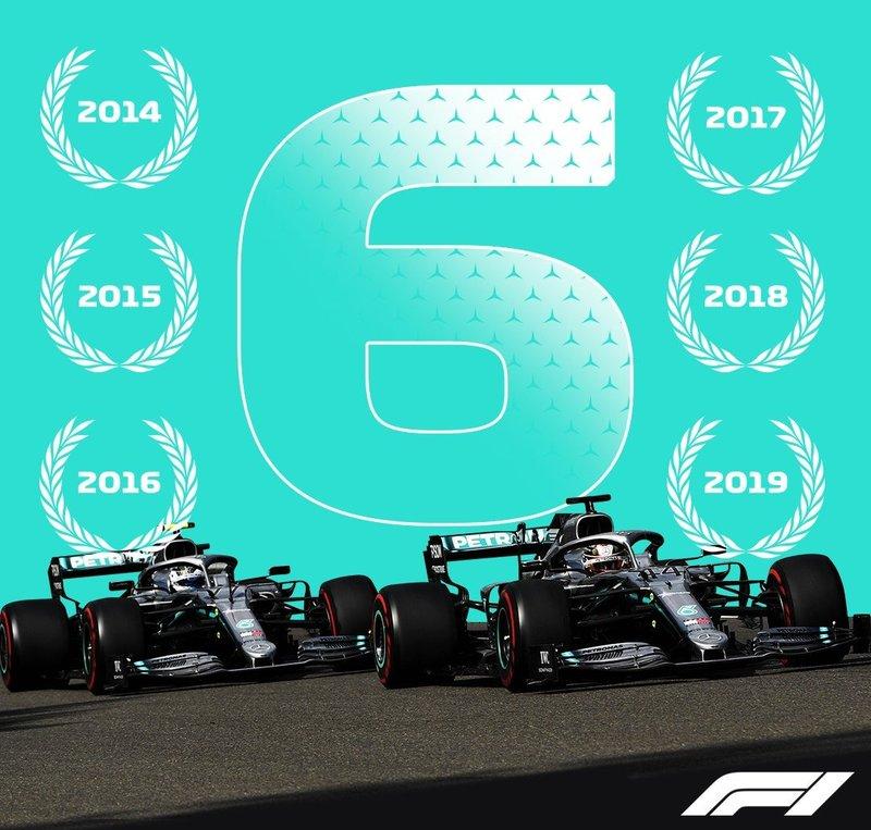 Mercedes, campeones (@F1)
