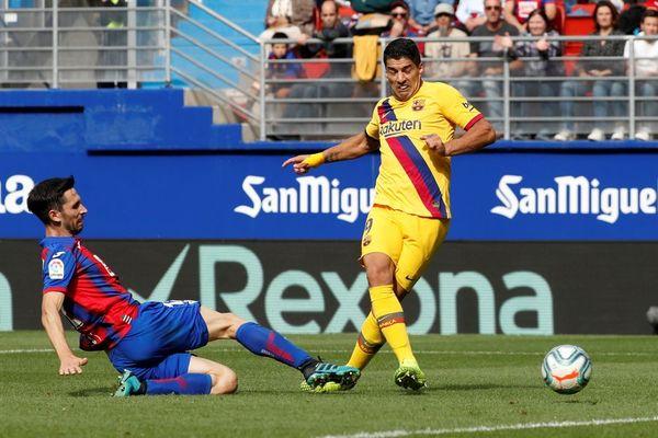 Y así ha sido el 0-3 de Suárez FOTO: EFE