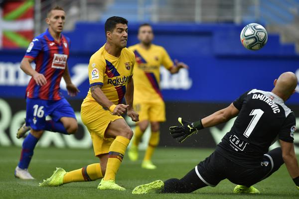 El gol anulado a Suárez FOTO: AP