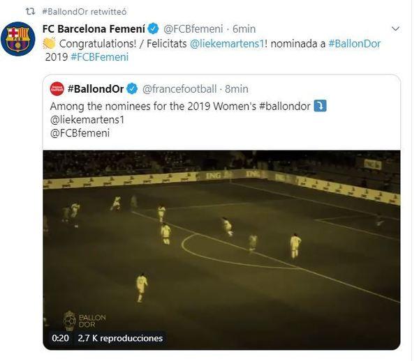 Felicitación Barça