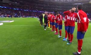 Suena el himno de la Champions en el Metropolitano. (FOTO: Captura TV)