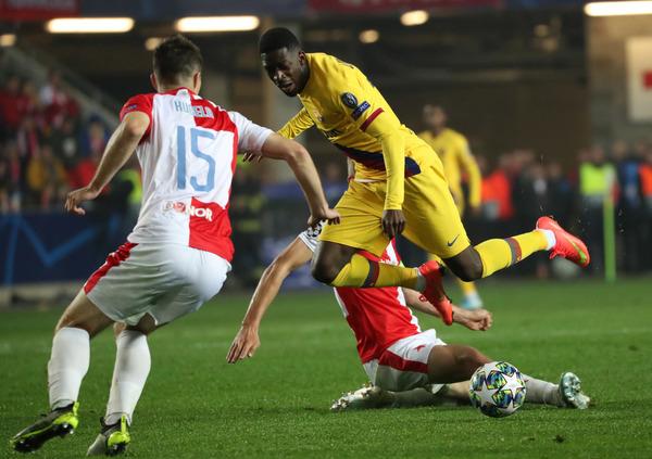 Dembélé ha sustituido a Griezmann en el minuto 69 del partido.