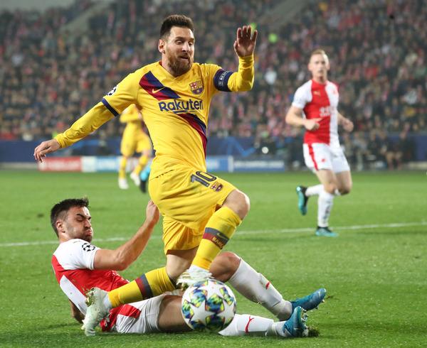 Leo Messi, el jugador más peligroso del ataque azulgrana, ha logrado el único gol del partido hasta el momento