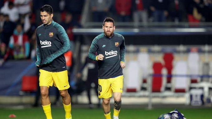 Menuda pareja. Suárez y Messi en el Eden Arena