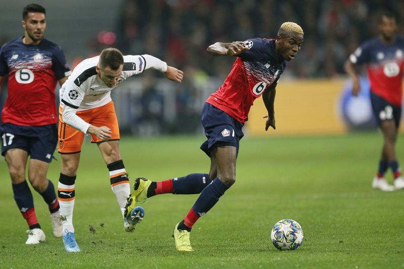 Imagen del Lille - Valencia de Champions League