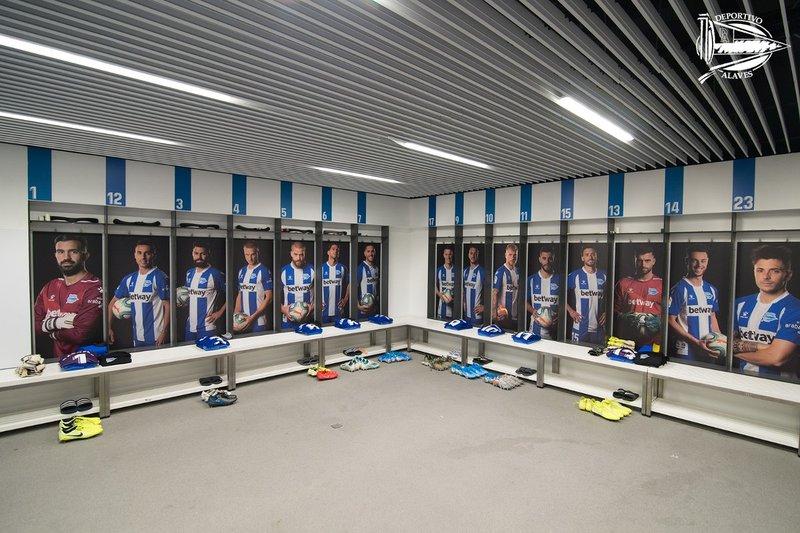 Todo preparado en el vestuario del Deportivo Alavés