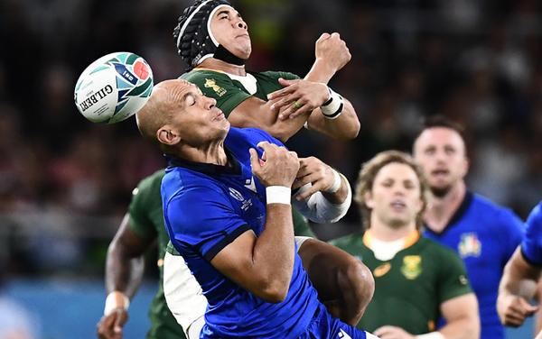Una fase del match tra Italia e Sudafrica (Getty)
