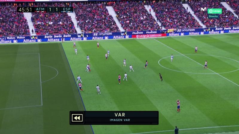 Ésta es la imagen que ha usado el VAR para dar validez al gol del Atlético.