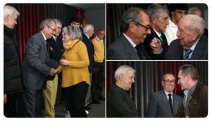 Este domingo hubo también un emotivo homenaje a los socios del Atleti con 50 y 65 años de antigüedad ininterrumpida. ¡Merecidísimas insignias de Oro y Oro y Brillantes!