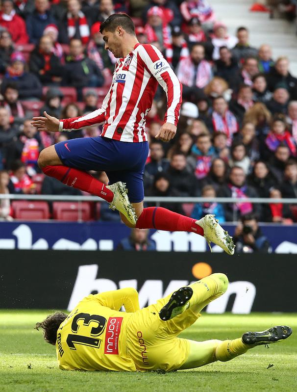Morata, de los mejores hoy para el Atlético.
