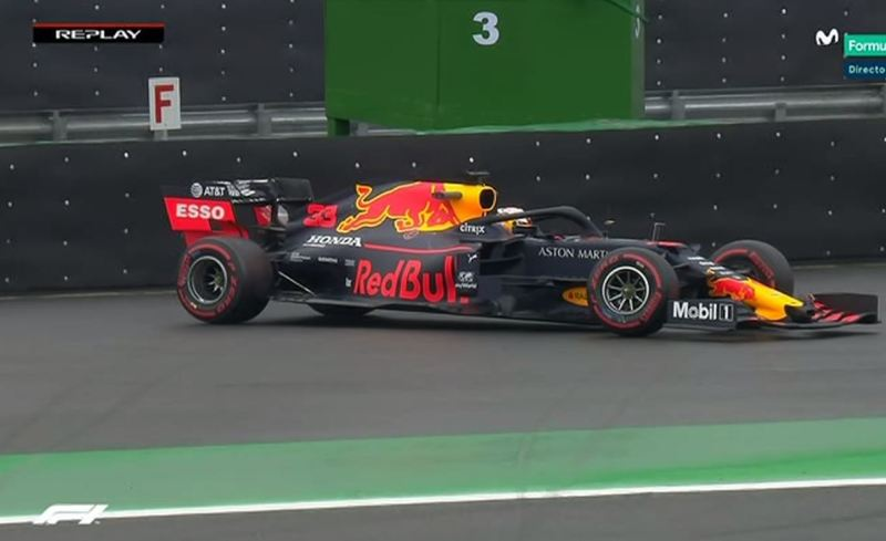 Así quedó el coche de Verstappen