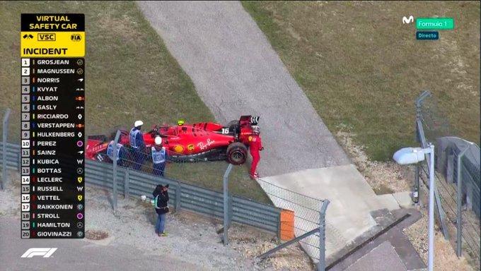 Leclerc rompe motor