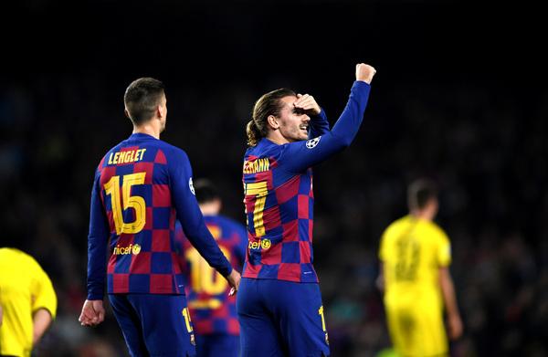 Griezmann celebra el 3-0 del Barça FOTO: GETTY