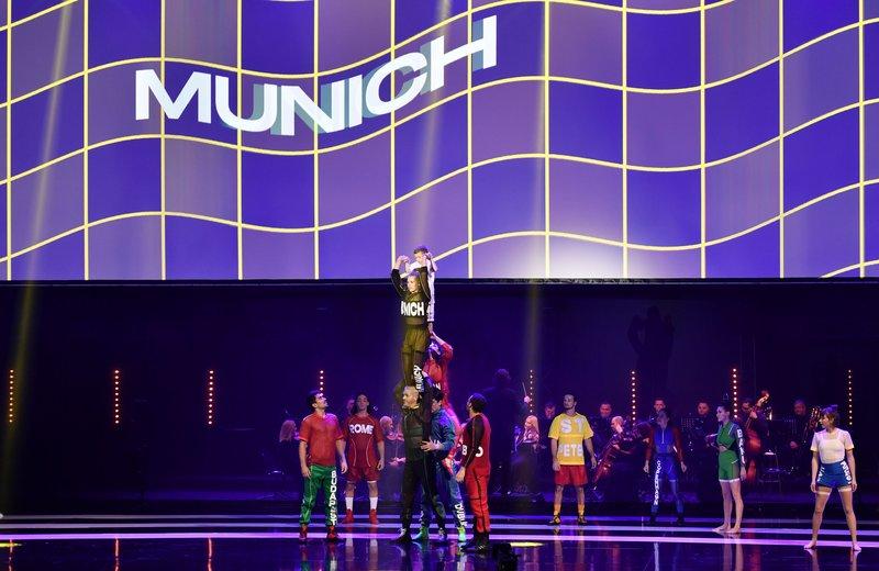 Imagen del show de acrobacia en la previa. Foto: Sel. Alemania.