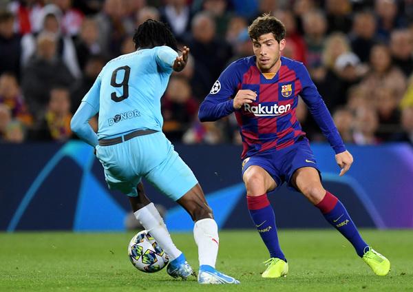 Sergi Roberto ha sustituido a Alba por lesión
