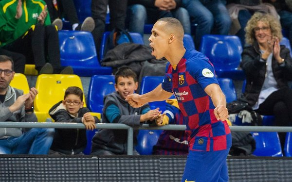 Y la celebración de Ferrao en el 2-0 FOTO: FCB