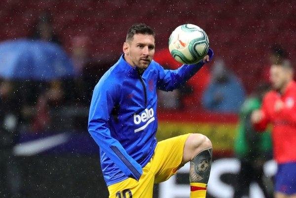 Messi, con ganas de estrenarse como goleador ante el Atlético en el Wanda FOTO: EFE