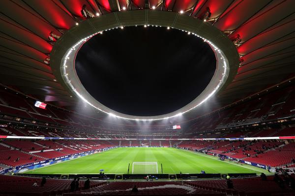 Otra visión del Wanda Metropolitano, donde sigue lloviendo con mucha intensidad FOTO: GETTY