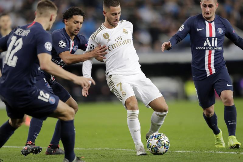 Imagen del último duelo del Real Madrid en Champions cuando se enfrentó al PSG