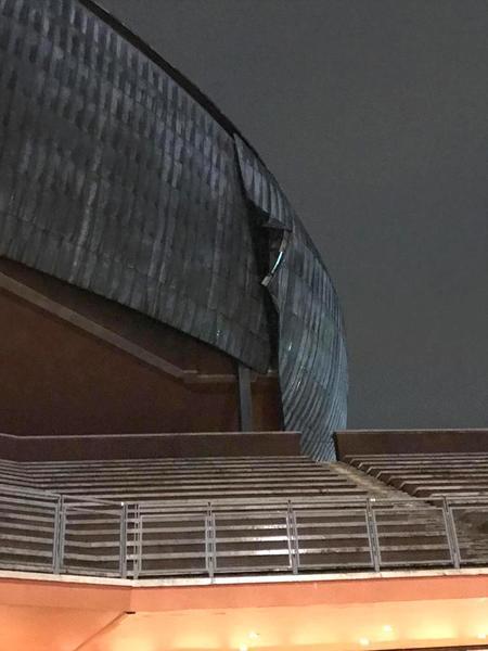 Le immagini dei danni all'auditoirum a Roma