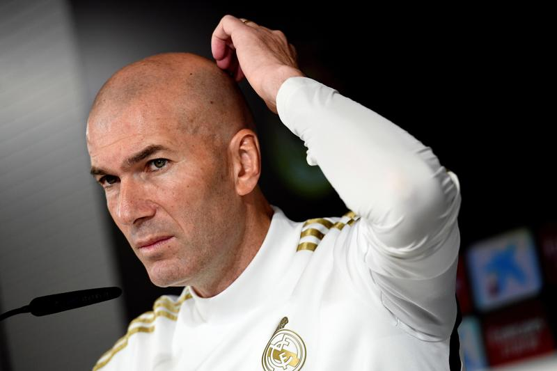 Zidane en la sala de prensa de Valdebebas antes del duelo ante el Valencia de este domingo en Mestalla