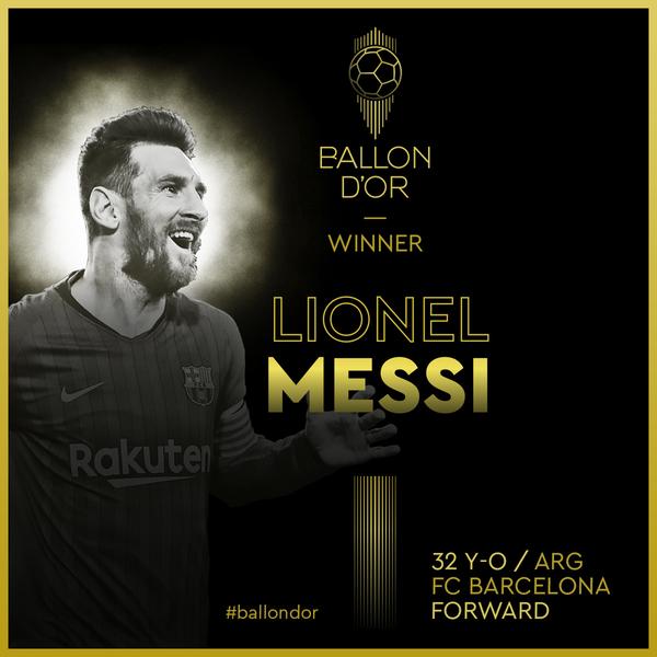 Messi, Balón de Oro 2019