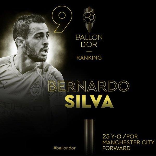 Bernardo Silva es el noveno