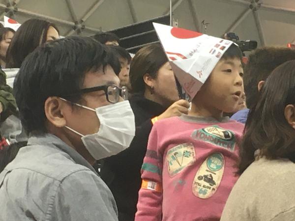 Japan föll till slut - till publikens besvikelse.