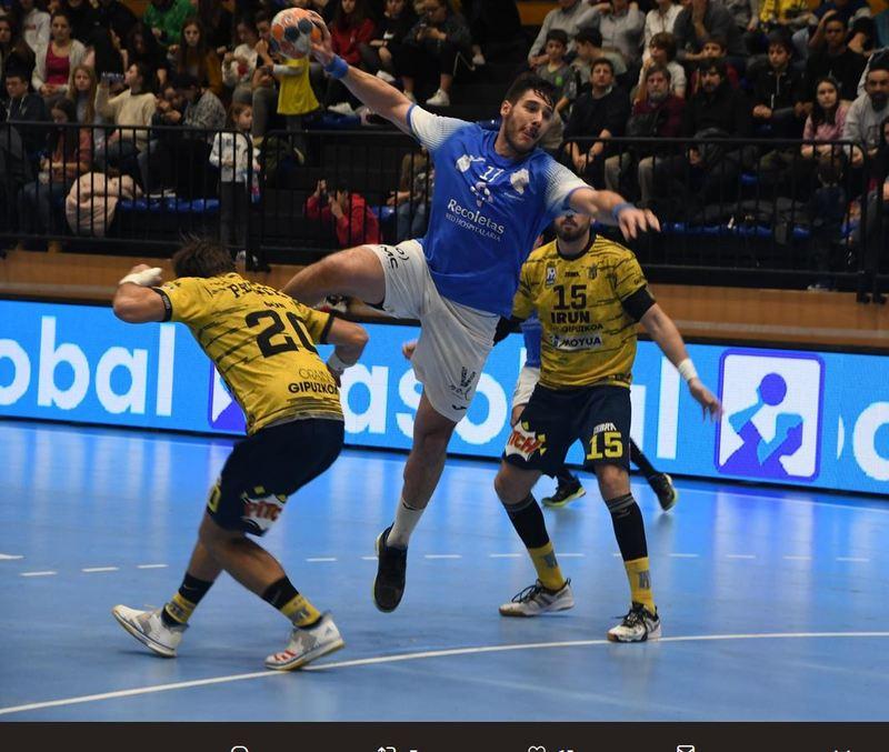 Abel Serdio, en el partido contra el Bidasoa