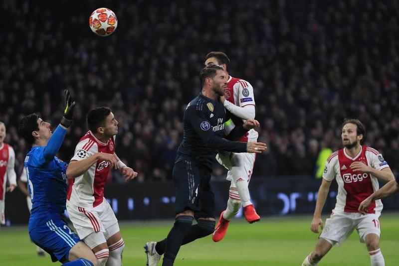 Imagen del gol en el  Ajax - Real Madrid de Champions League