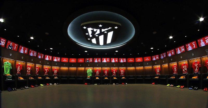 Todo preparado en el vestuario del Atlético