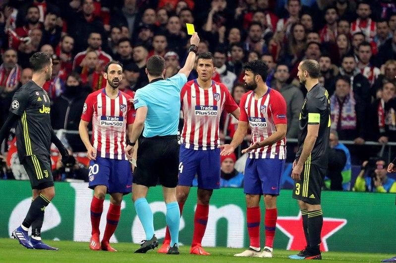 Diego Costa no estará en la vuelta en Turín tras ver la tarjeta amarilla