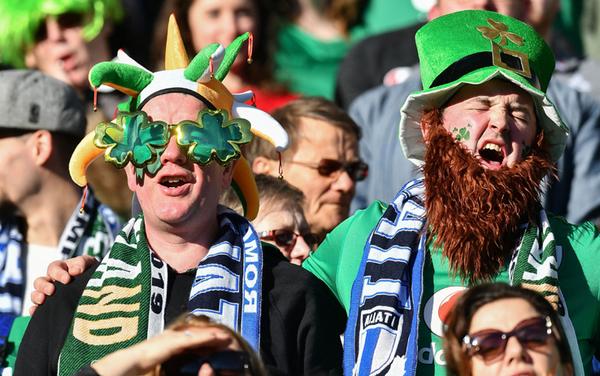 Tifosi irlandesi all'Olimpico