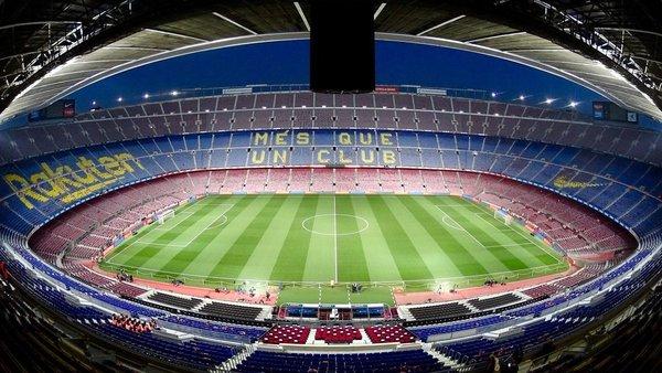 Aspecto del Camp Nou desde la tribuna de prensa (FOTO: @LLUISFLAQUER)