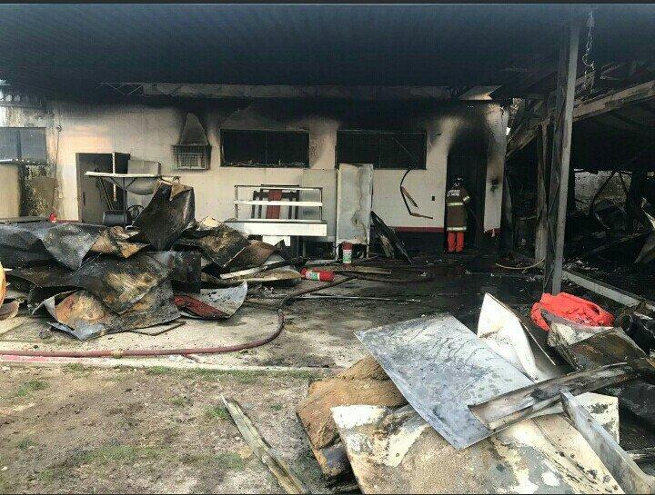 Así han quedado las instalaciones de la Ciudad Deportiva del Flamengo tras el incendio