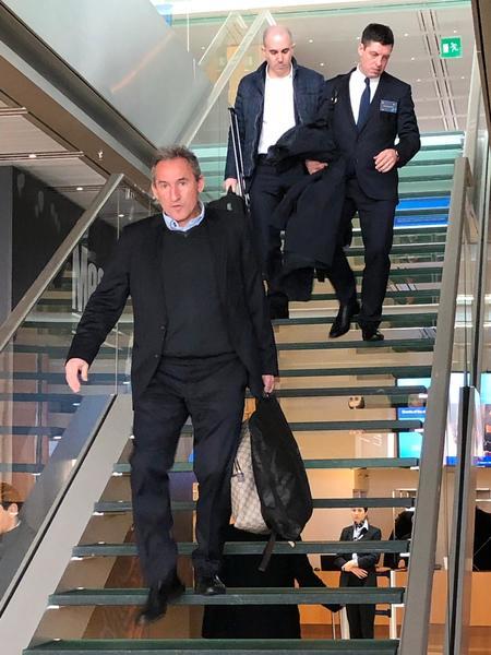 Txiki Bergiristain, secretario técnico del Manchester City, llega también a Nyon para asistir al Sorteo de Champions. Foto: Sergi Solé