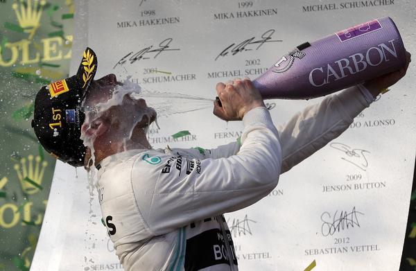 Valtteri Bottas wins the F1 Australian Grand Prix for